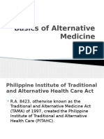 Basics of Alternative Medicine