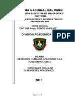 SILABO.ACTUALIZADO DD.HH.APLICADOS A LA FUNCION POLICIAL I.CENTINELAS DE LA LEY-2017.doc