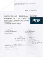 Sunanda Murder - AIIMS Report Sept 27, 2014