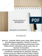 Strategi Bekerjasama Dengan Sponsor