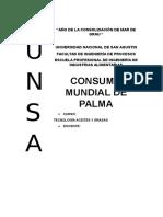 Consumo Mundial de Palma