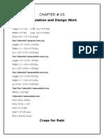 Channal Design Calculations