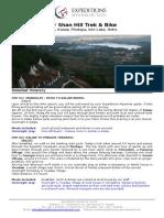 7 Days Myanmar Shan Hill Trek & Bike Tour