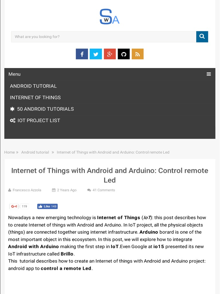 Internet Of Things With Android And Arduino Now That You Understand How To Talk An App Operating System