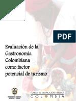 Evaluación de La Gastronomía Colombiana