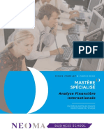 NEOMA BS - Brochure MS Analyse Financière Internationale - Février 2017