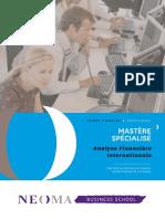 NEOMA BS - Brochure MS Analyse Financière Internationale - Février 2017