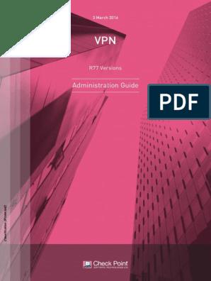 CP R77 VPN AdminGuide | Virtual Private Network | Computer