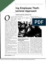 Preventingemployee Theft