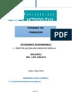 Desarrollo de La Unidad i Finanzas