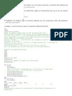 Diferencias finitas, ejemplo básico