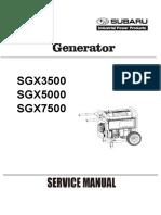 Subaru Generators Commercial Sgx3500 Sgx5000 Sgx7500e Service