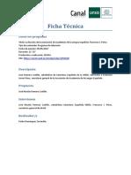 Ficha-tecnica-CEMAV - 09016-17 La Funci n de La Asociaci n de Academias de La Lengua Espa Ola. Francisco J. P Rez