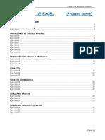 Manual y Ejercicios EXCEL Primera Parte