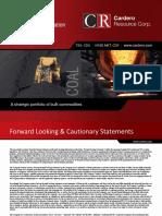 Cardero Resources Presentation