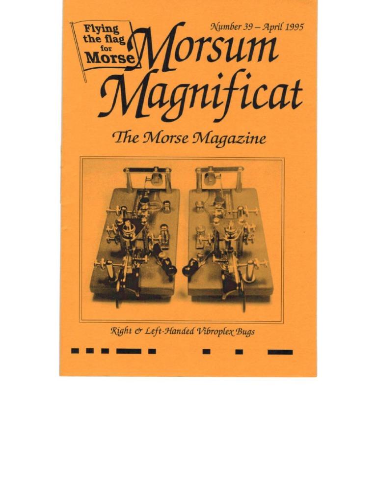 Morsum Magnificat-MM39   Telecommunications   Electronics