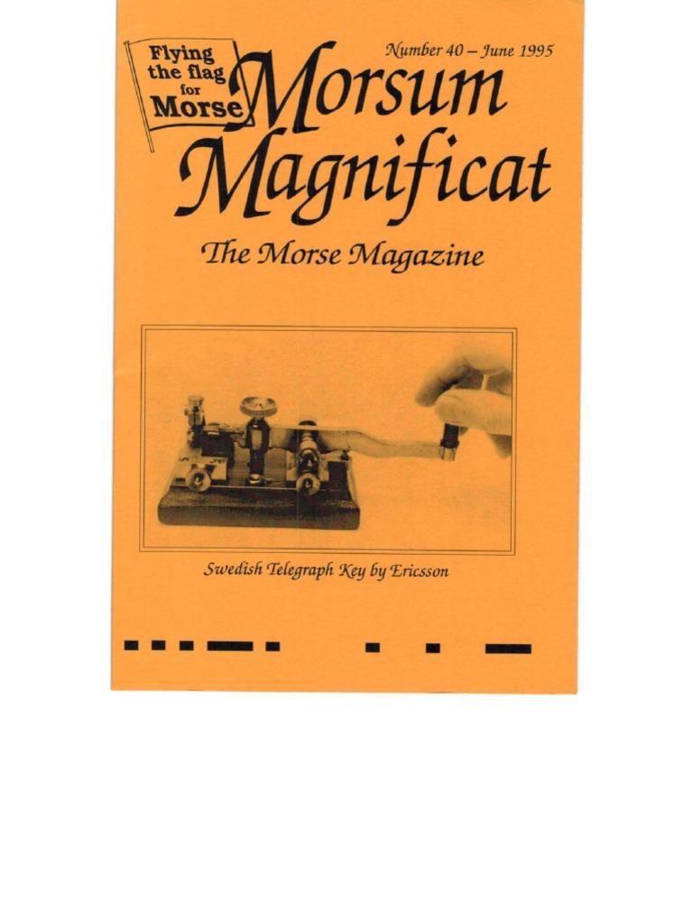 Morsum Magnificat-MM40 | Amateur Radio | Cheque