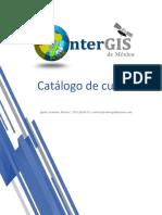 Catálogo de cursos presenciales y Online de OnterGIS de México