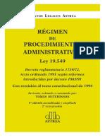Régimen de Procedimientos Administrativos. 2014. Hutchinson, Tomás