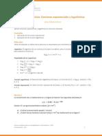 Guía Funciones. Aplicaciones Funciones Exponenciales y Logarítmicas