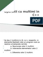 Operatii cu multimi in C++