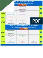 Horarios Del Sáb-dom 3 - 4 Junio