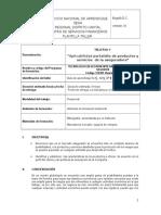 Taller No 5 Aplicabilidad Portafolio de Productos y Servicios