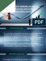 Factores Variables en La Comercializacion y Metodologia