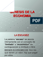 Genesis de La Economia- Presentacion (1)