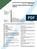 NBR 9.649 Projeto de Redes de Esgoto