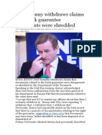 Enda Kenny Withdraws Claims That Bank Guarantee Documents Were Shredded