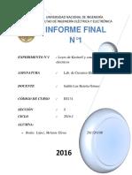 Informe Final n01- Leyes de Kirchoff
