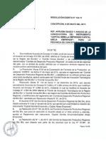 Resolucion Exenta N123 Semilla Abeja Provincia de Concepcion