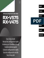 Rx-V575 Rx-V475 Esg g Enfrdesvitesnl