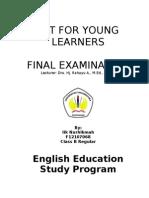 ELTfor Young Learner Final Exam