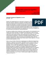 El Error Del Desarrollo Nuclear en Argentina