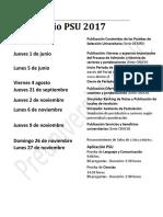 9 Calendario PSU 2017