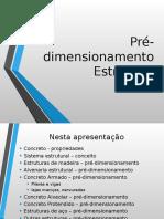 AULA - Pre Dimensionamento Estrutural