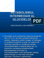 Metabolismul Intermediar Al Glucidelor