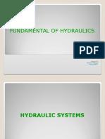 Fundamental of Hydraulics