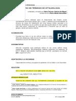 Glosario de Términos de Oftalmología