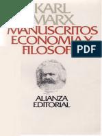 Marx Karl - Manucritos - Economia Y Filosofia