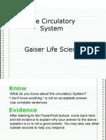 Seventh Grade Circulatory System