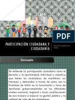 Participación Ciudadana y Ciudadanía