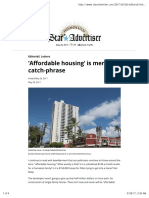 'Affordable Housing' is Mere Catch-phrase