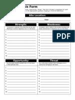 Blank SWOT Analysis Form (1)