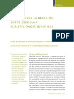 DUSCHASTZKY - Notas Sobre La Relación Entre La Escuela y Las Subjetividades Juveniles