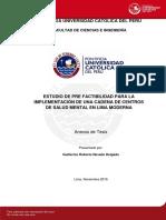 Pre-factibilidad Cadena Consultorios Anexos