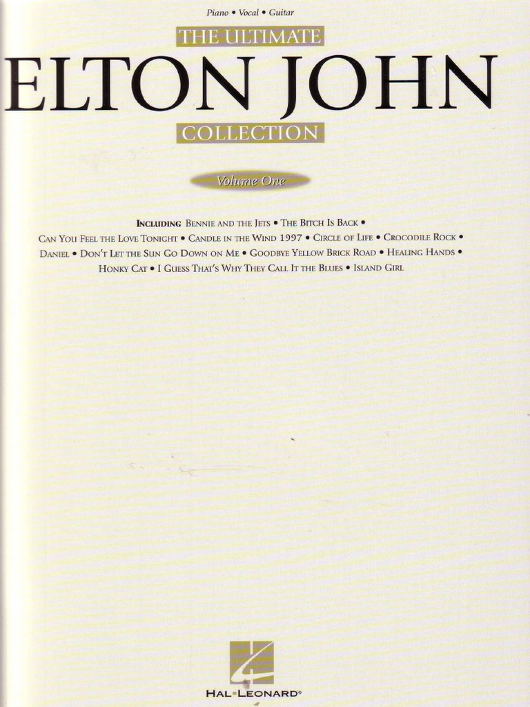 John Denver The Ultimate Collection: 50779065-Elton-John-The-Ultimate-Collection-Vol-1.pdf
