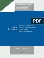 Guide Technique Pour Les Projets de Pose Et Réhabilitation Des Réseaux d'Assainissement